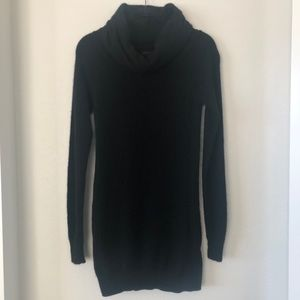 Theory black cozy turtleneck ribbed sweater small